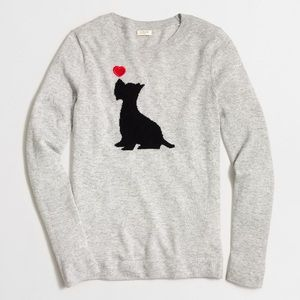 J. Crew Intarsia Scottie Dog Sweater